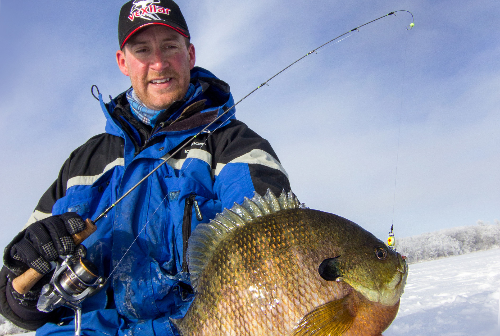 Minnesota bluegill ice fishing guide
